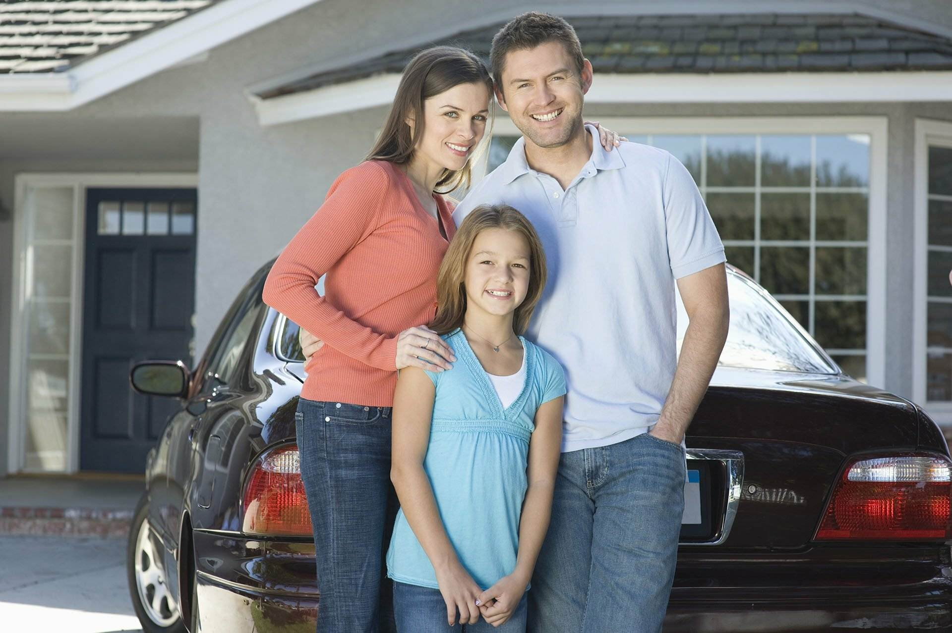 Image of Australian family, mum, dad and daughter - representing NBS Home Loans customers seeking Best Home Loans Sydney and Australia
