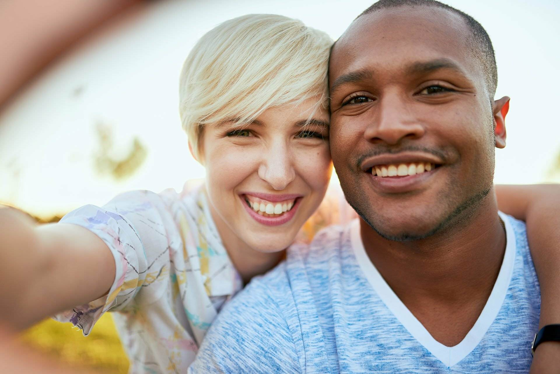 Image of a mixed young couple - representing NBS Home Loans clients - best home loans for All Australians