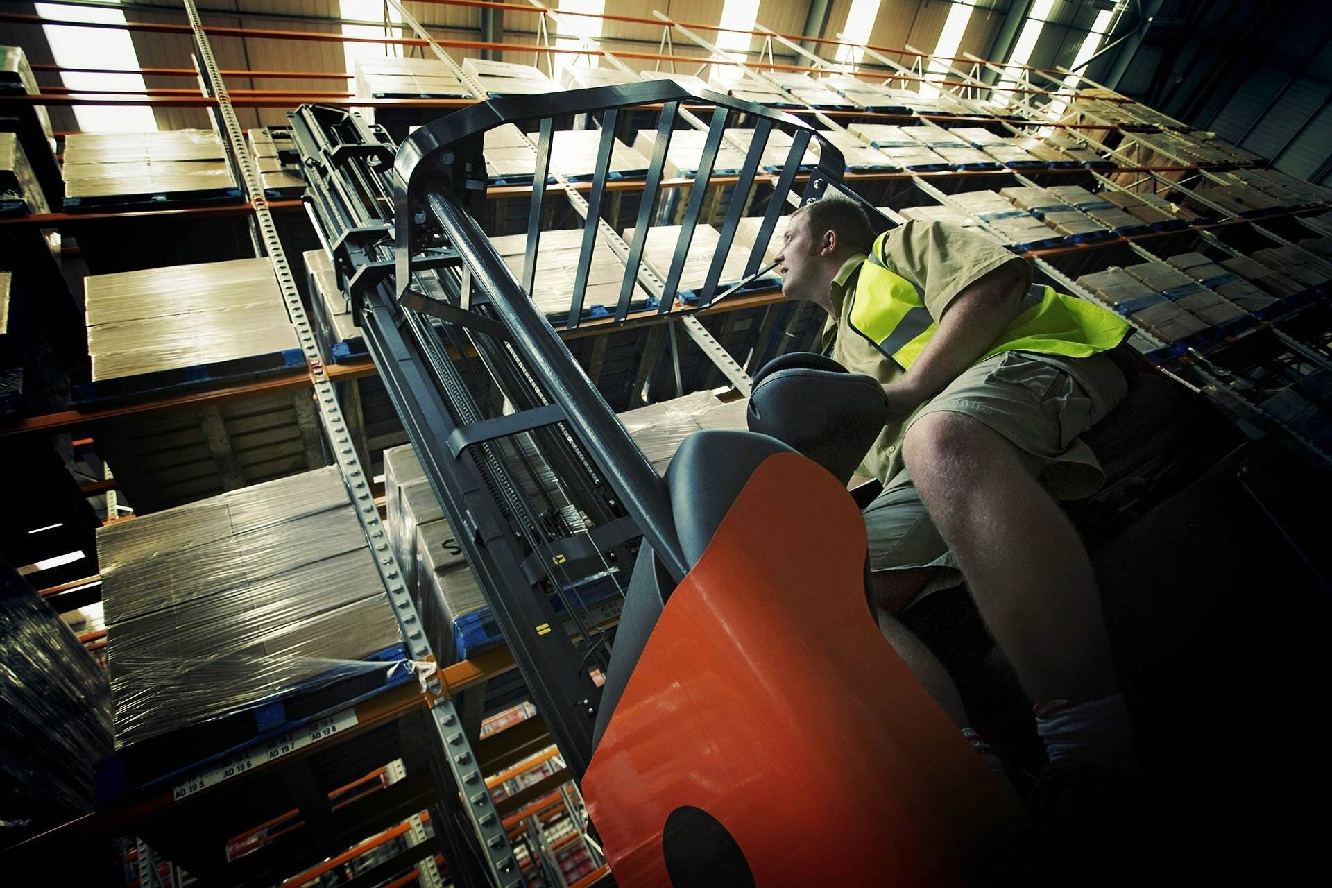 Image of a fork lift representing a business asset loan. NBS Home Loans offering Best Asset Loans for small and medium businesses and companies Australia-wide, based in Seven Hills, Sydney.